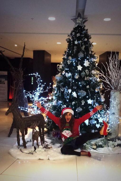 Christmas pictures: Nicole Scherzinger