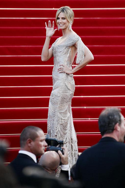 Heidi Klum, splendida top e super mamma