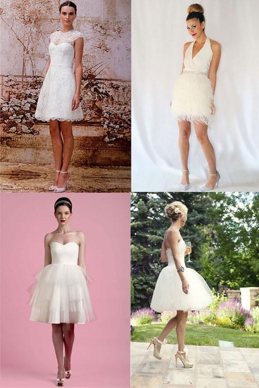 De 50 mooiste korte bruidsjurken