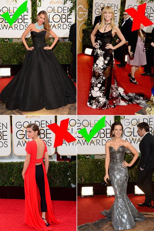 Globos de Oro 2014: las mejor y peor vestidas