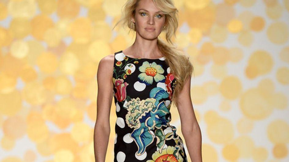 La modelo Candice Swanepoel abre el desfile de Desigual