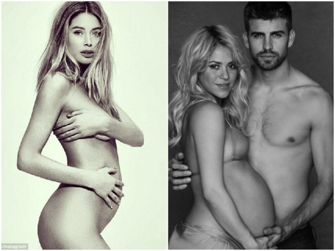 Grávidas famosas | Doutzen Kroes e Shakira