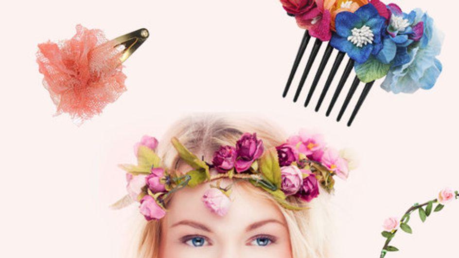 Für Frühlingsfrisuren: Haarschmuck mit Blüten und Blumen