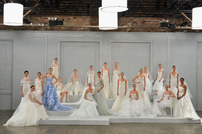 Monique Lhuillier New York Bridal Week primavera 2015