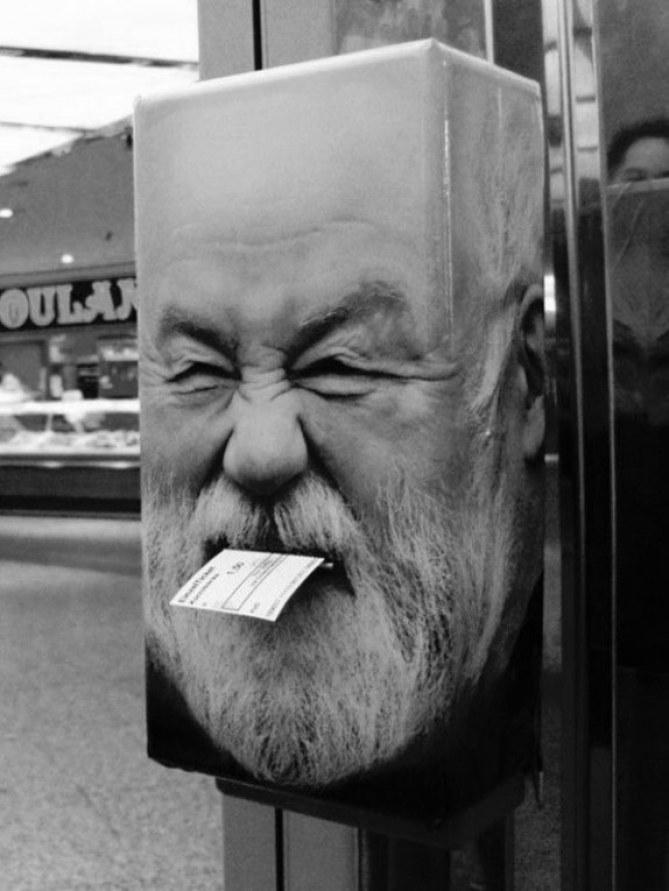 Buzón enfadado - 60 ejemplos de packaging divertido y original