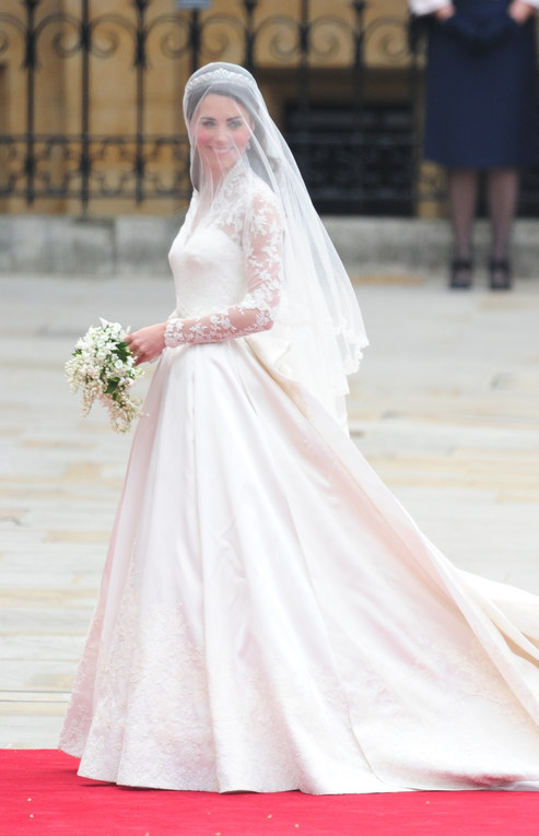 Kate Middleton vestida de novia