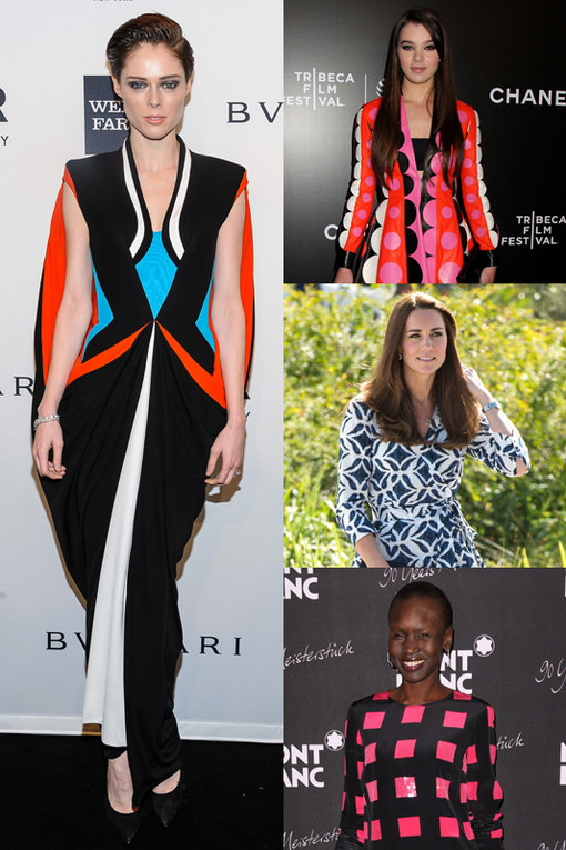 Quando le celebrities scelgono abiti a effetto grafico e geometrico
