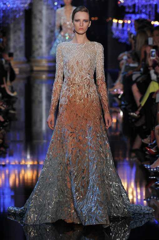 Modeshow Elie Saab Haute Couture Herfst-Winter Parijs 2014-2015