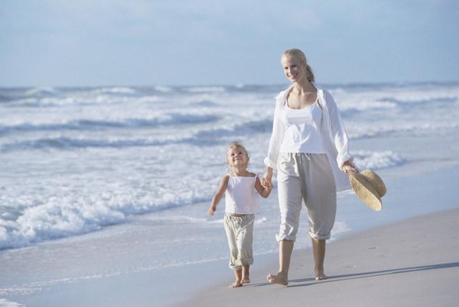 Op het strand lopen: 300 calorieën per uur