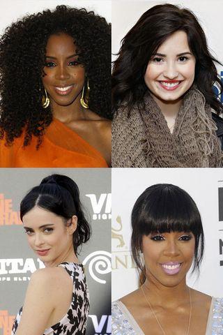 I capelli neri delle star