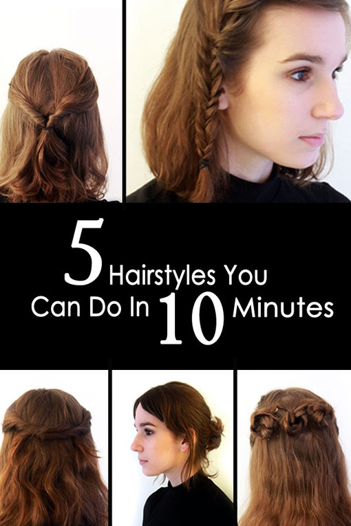 5 Quick & Easy Hairstyles You Can Do In Under 10 Minutes