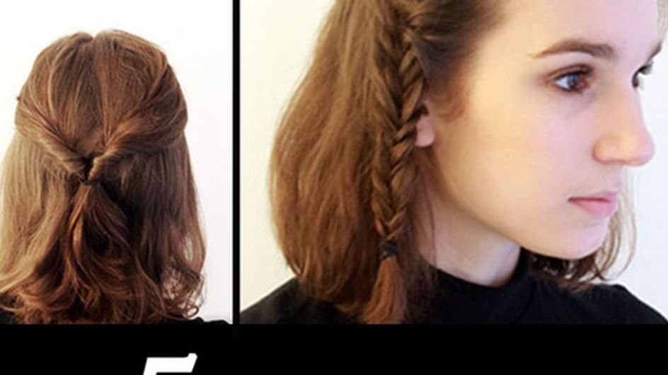 5 Quick & Easy Hairstyles You Can Do In 10 Minutes