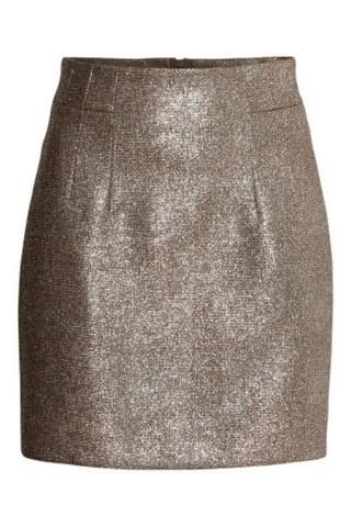 goldfarbener Rock von H&M, 24,99 €