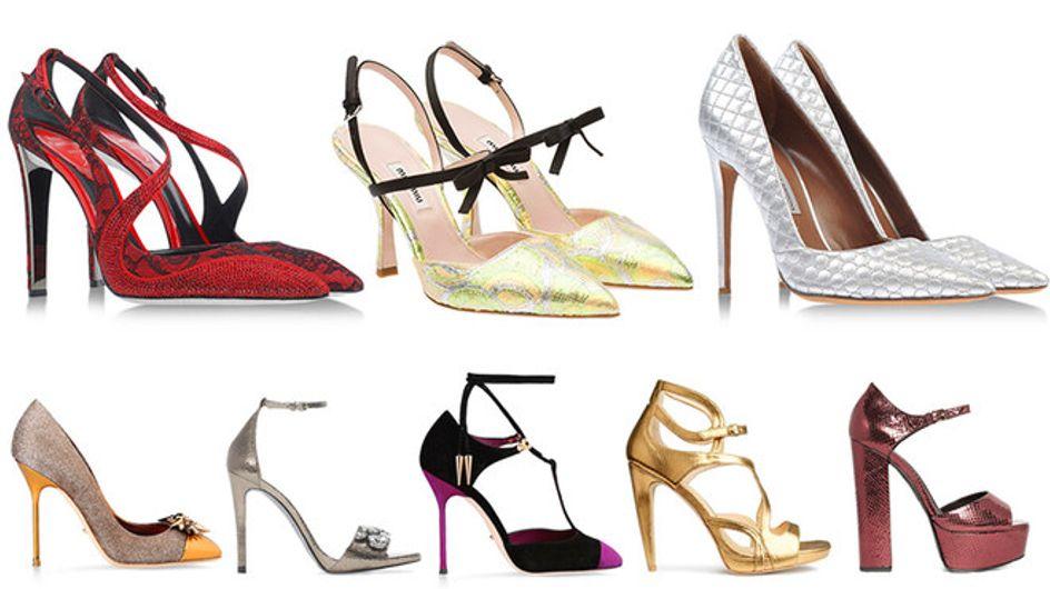 Oro, metallo e glitter: ecco le scarpe da sogno per l'inverno!