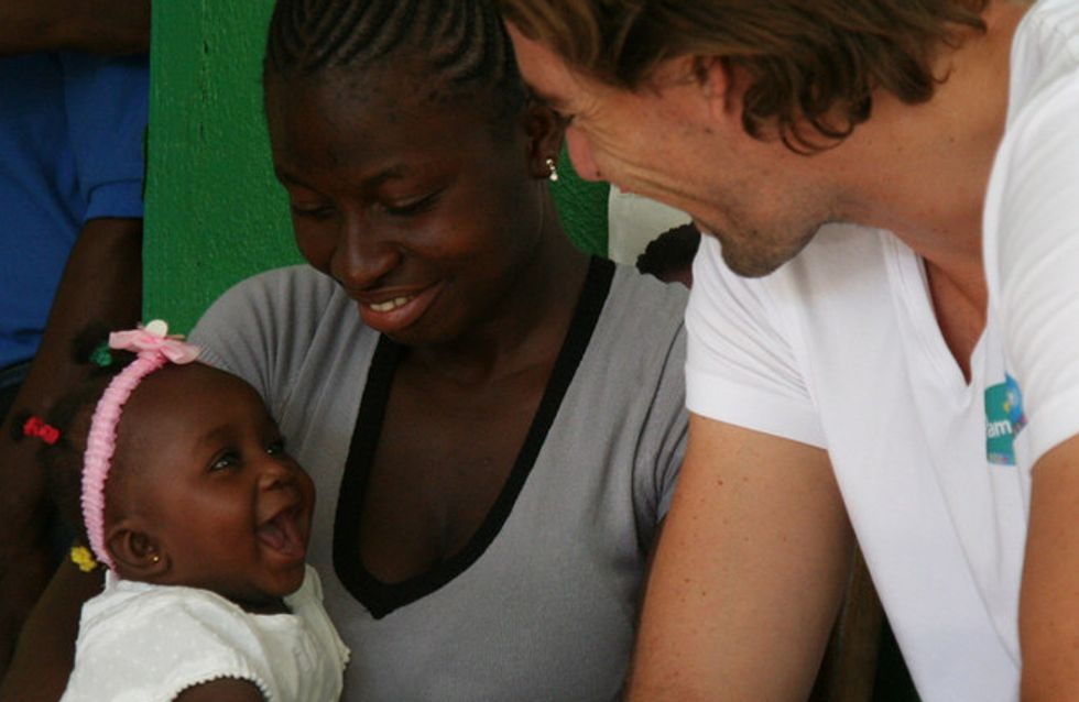 Camille Lacourt, parrain de la campagne Unicef-Pampers en Haïti