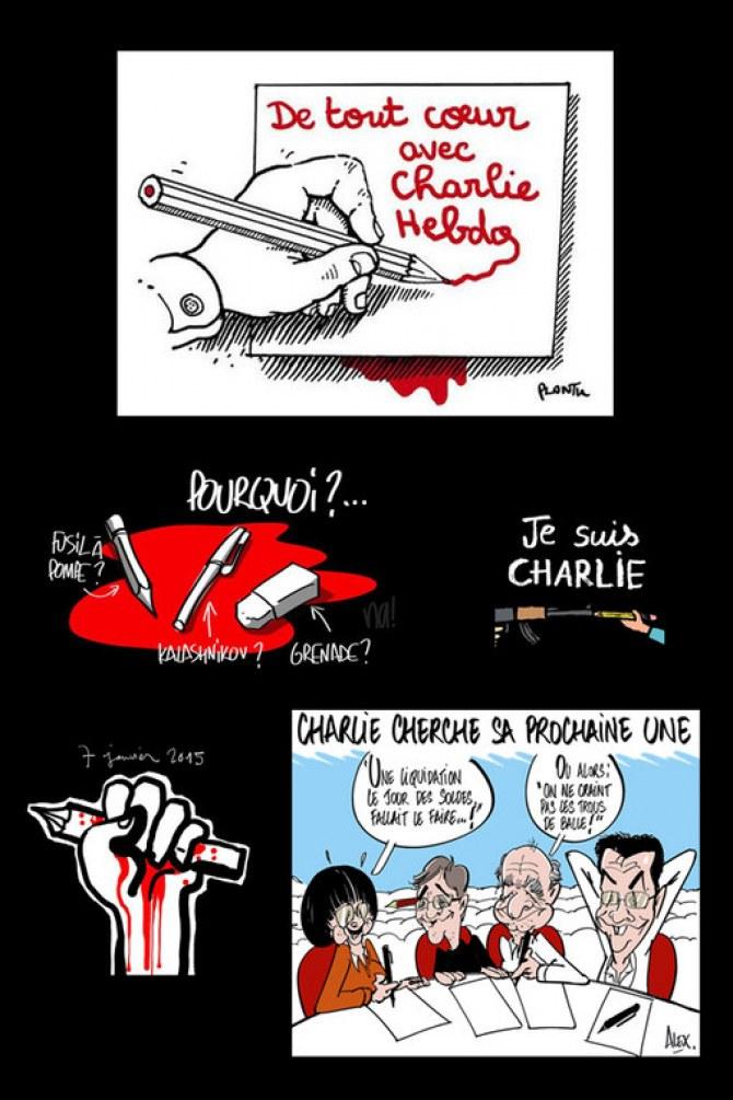 Les dessinateurs du monde entier ont rendu hommage à Charlie Hebdo