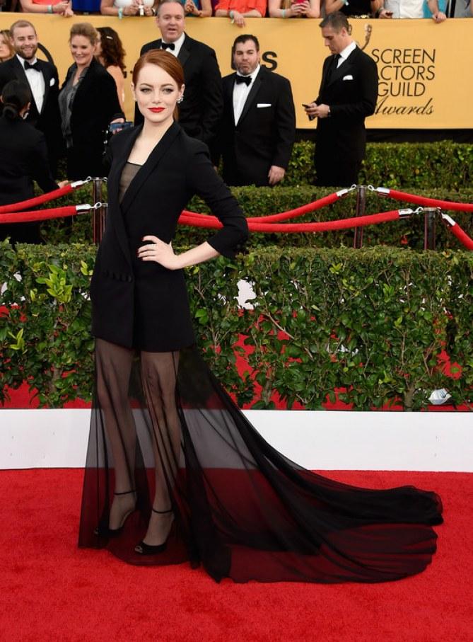 Emma Stone en Dior Couture aux SAG Awards