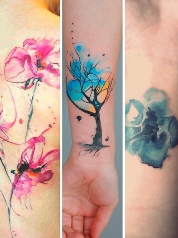 45 fotos incríveis de tatuagem aquarela