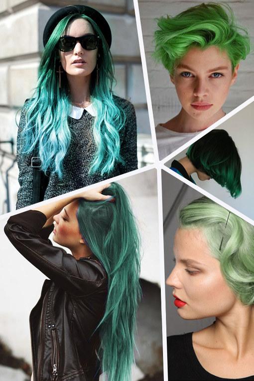 Grüne Haare sind jetzt Trend!