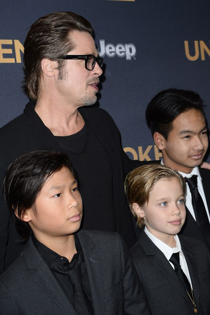 Brad Pitt et ses enfants