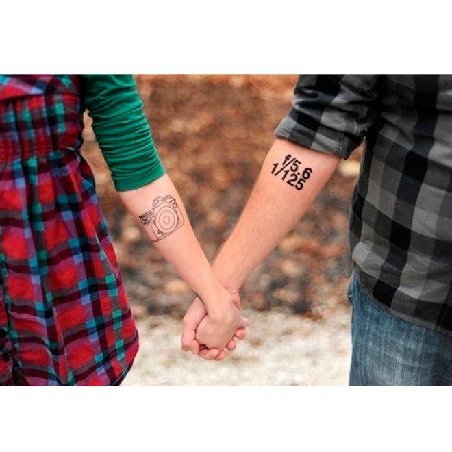 48 inspirações criativas de tatuagem para casais