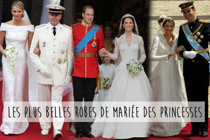 Les robes de mariée des princesses