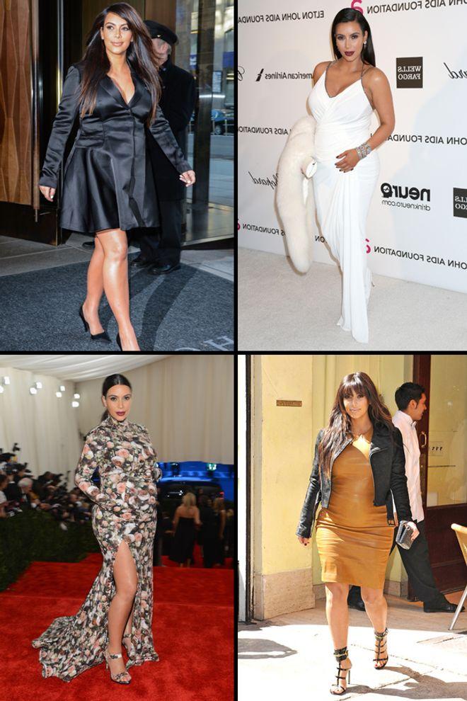 Les looks de grossesse de Kim Kardashian