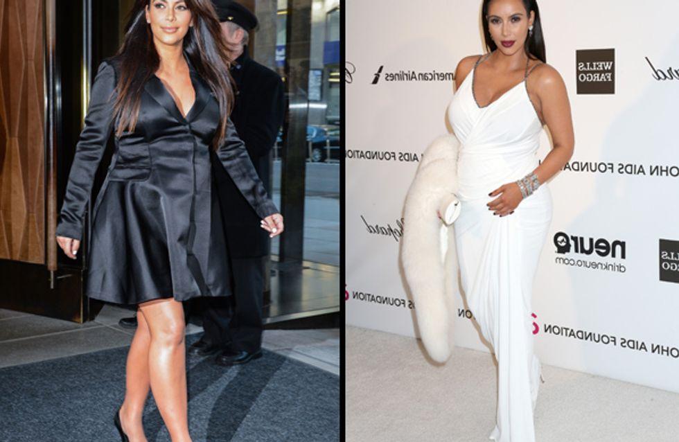 Kim Kardashian enceinte et stylée
