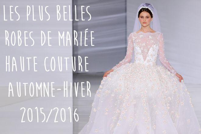 Robe de mariee haute couture 2015