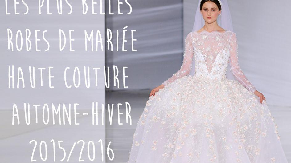Les plus belles robes de mariée Haute Couture automne-hiver