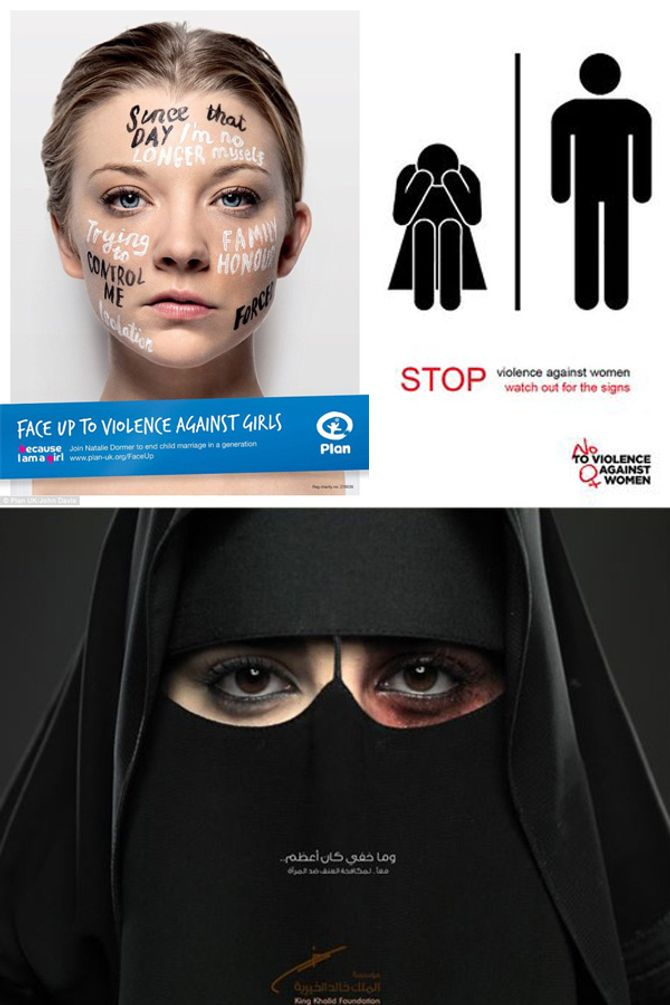 Découvrez les campagnes choc contre les violences faites aux femmes