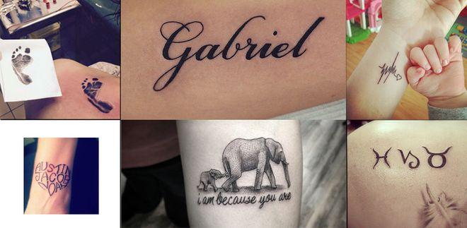 Tatuaggi per Mamme i tatuaggi per ricordare la nascita di tuo figlio!