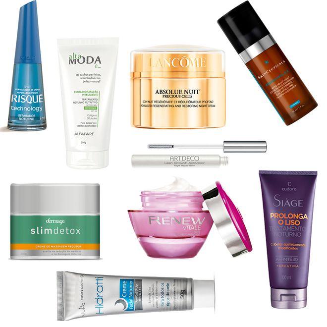 Tratamento noturno: +40 produtos de beleza que agem durante o sono