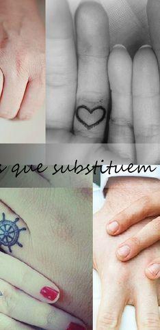 Tendência: noivos trocam alianças tradicionais por... tatuagens!