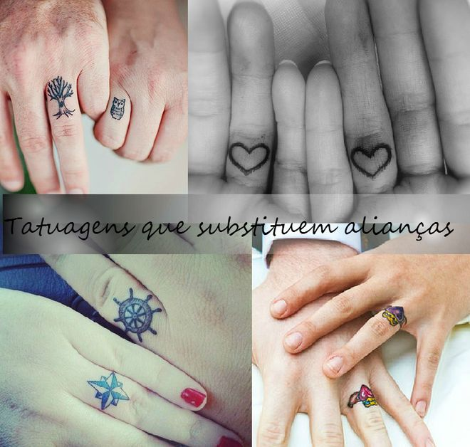 40 tatuagens de casal que substituem alianças tradicionais