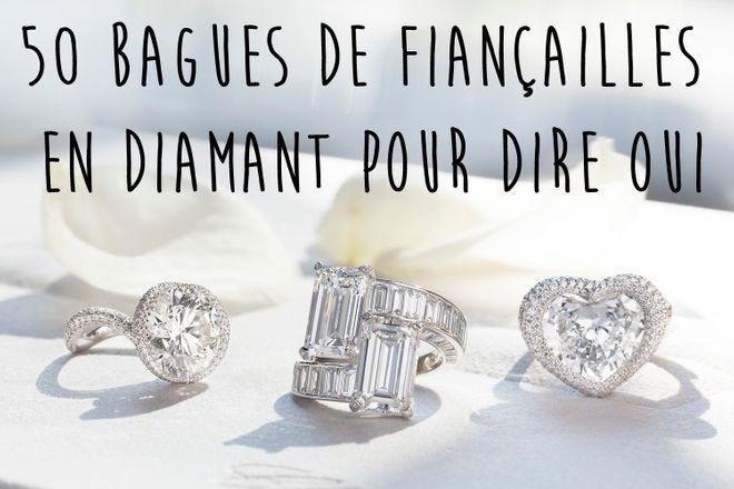50 bagues de fiançailles diamant