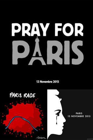 Hommages aux attentats de Paris en images