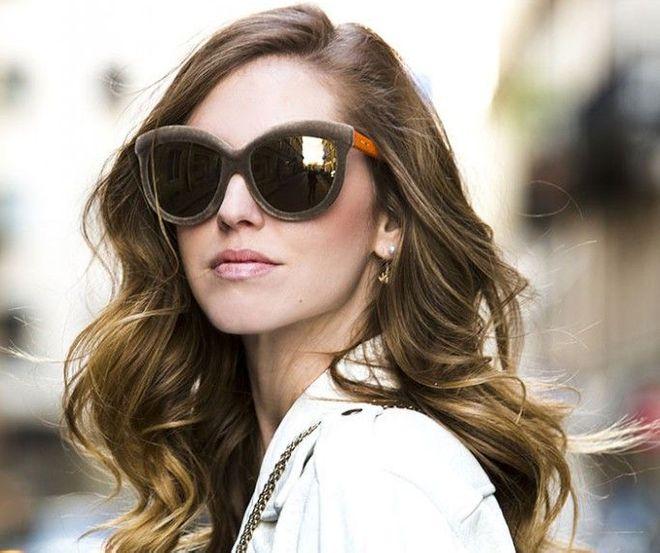 Gafas de sol de terciopelo