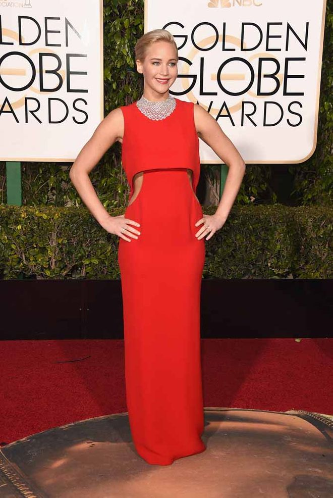 Il red carpet delle star ai Golden Globes 2016 - Jennifer Lawrence
