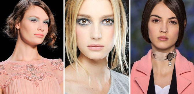 Idee di make-up ispirate ai colori Pantone 2016: rosa quarzo e blu serenity