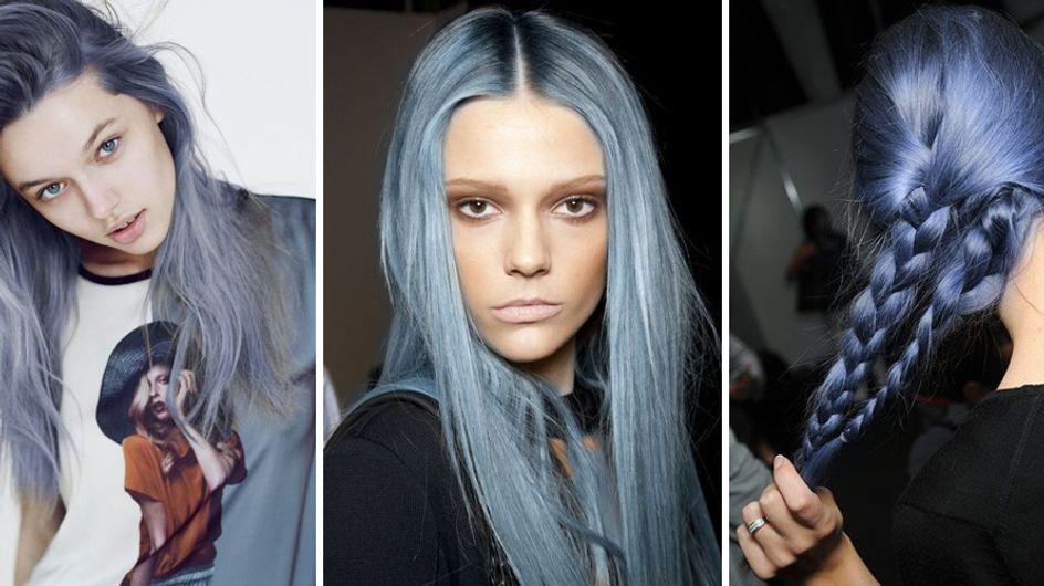 Denim hair: scopri il nuovo trend capelli color jeans!