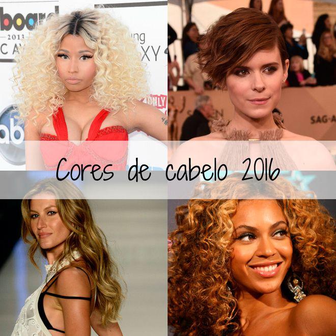 Cores de cabelo para 2016