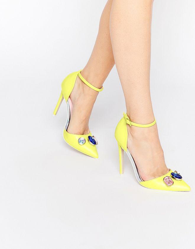 Scarpe gialle con il tacco Asos Collection