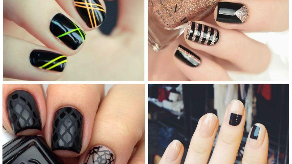 Back to black: 22 unhas decoradas (nem tão básicas assim) com esmalte preto