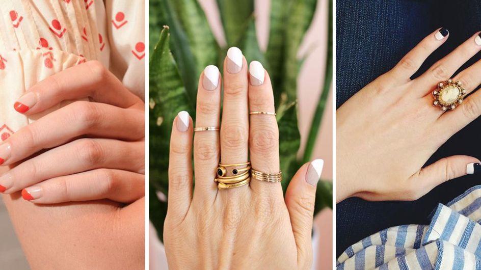 Nail art geométrica: +80 fotos para dar Ctrl C + Ctrl V!