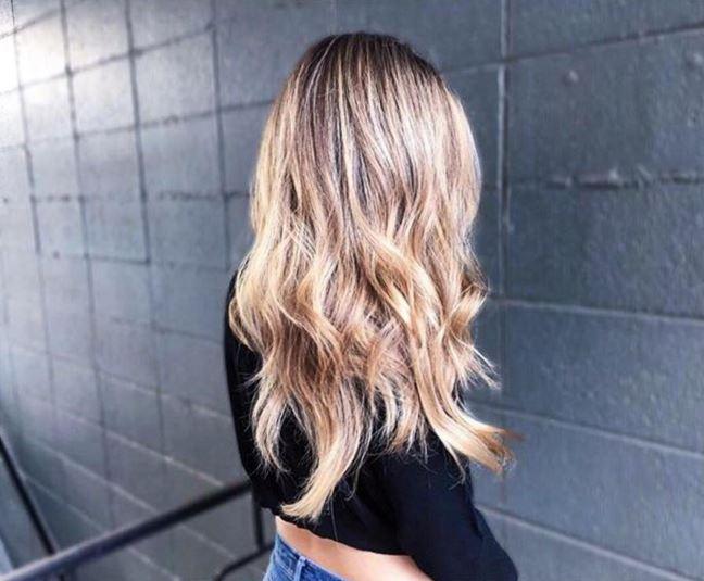Lange haare stufenschnitt glatte Glatte haare