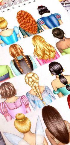 Que tal reproduzir os penteados das princesas da Disney?