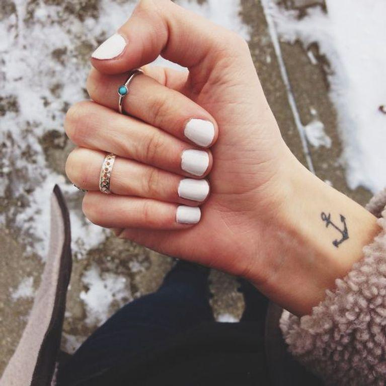Tatuajes De Anclas Foto Enfemenino