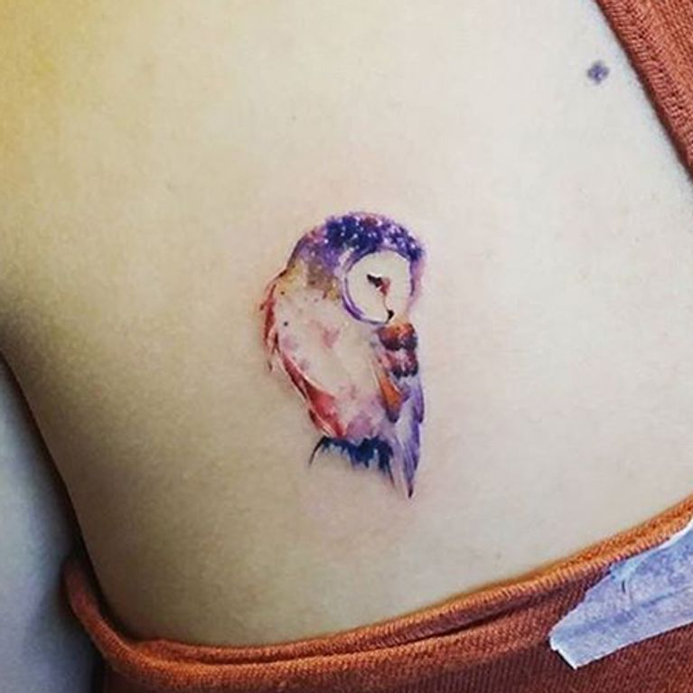 Tatuajes De Búhos Foto Enfemenino