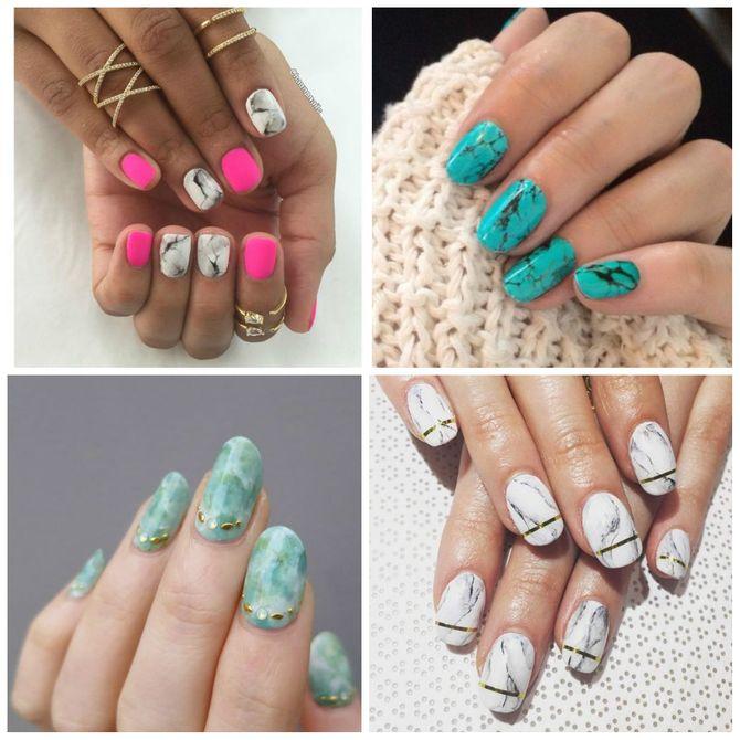 Manicura efecto mármol: ¡la edad de piedra llega a tus uñas!